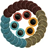 TuhooMall 30 PCS 2 inch Roloc Surface Conditioning Discs for Metal, Composite Materials, Plastic Workpieces