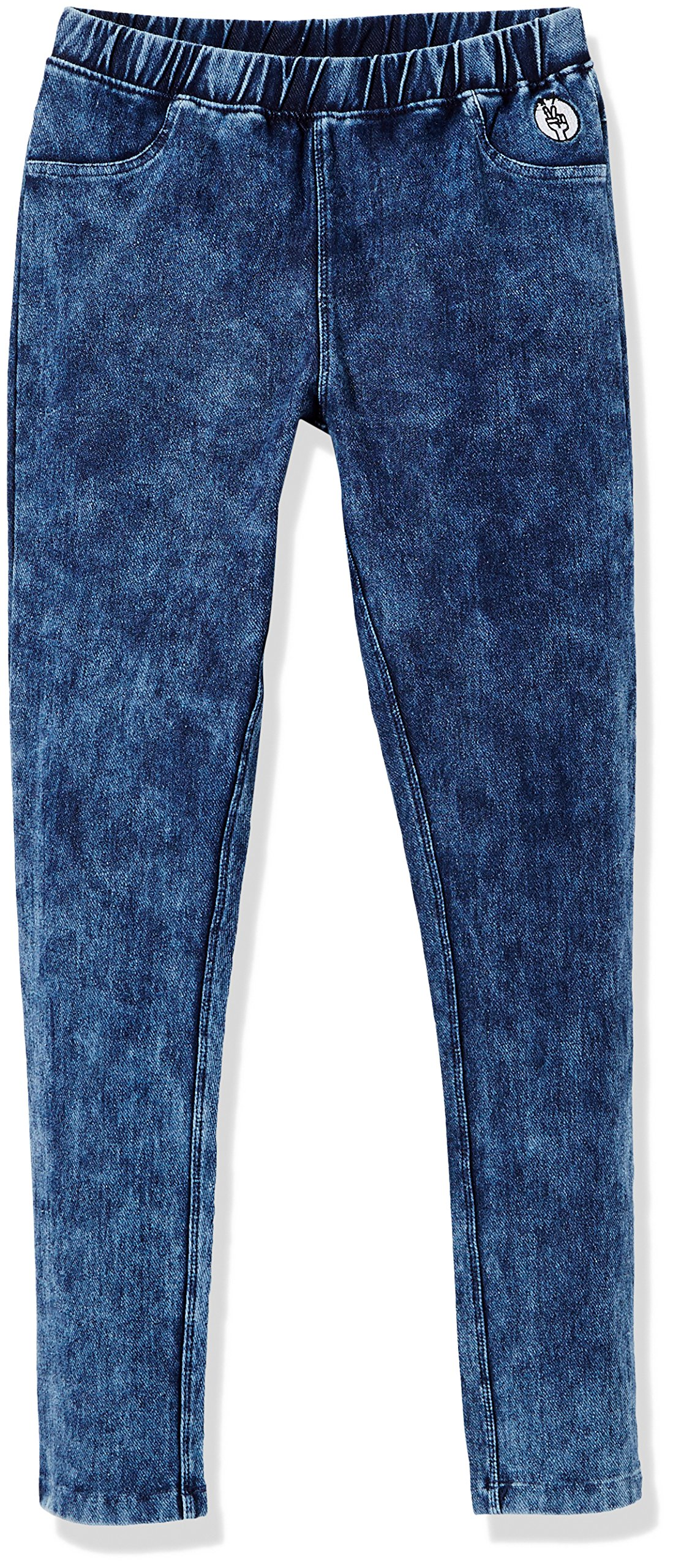 Kid Nation Girls' Cotton Stretch Washed Knit Pull-on Jegging S Navy Washed …