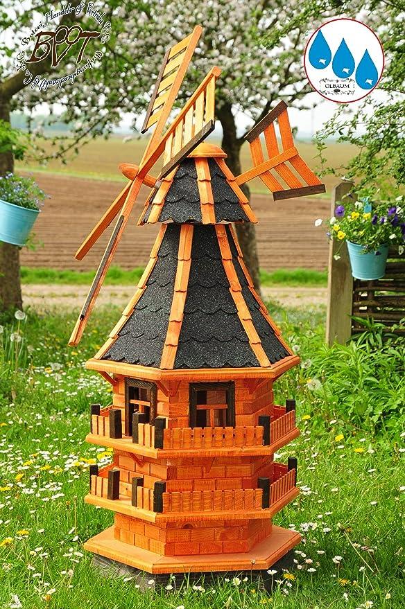 XXL de molino de viento, Jardín Windmühlen aprox. 140 cm, clásico con borde de balcón Ventana,
