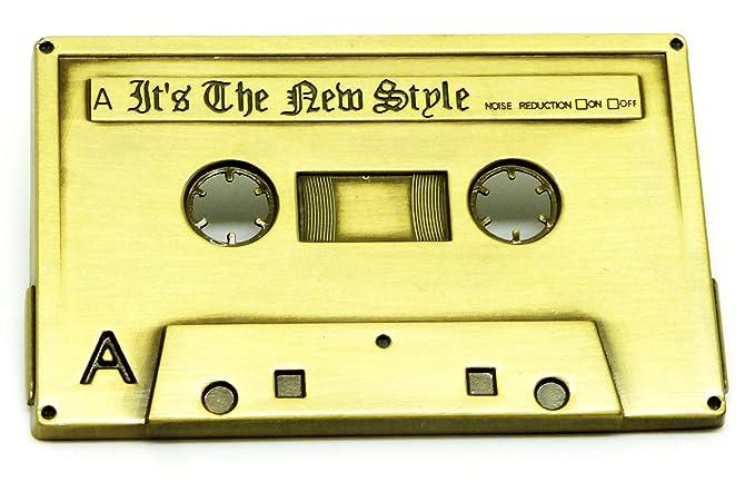 Música Hebilla de cinturón - Cinta de Cassette Retro Temática de Color Dorado Oscuro: Amazon.es: Ropa y accesorios