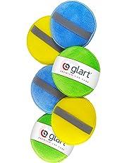 Glart 43PP Juego de 6 esponjas manuales abrillantadoras de microfibra, 130x25 mm