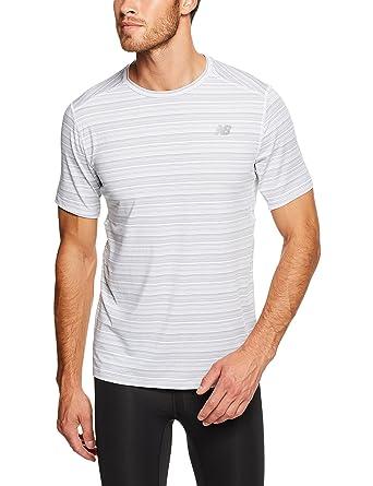 33461a56b6b8e New Balance Men's Fantom Force Short Sleeve T-Shirt: Amazon.co.uk ...