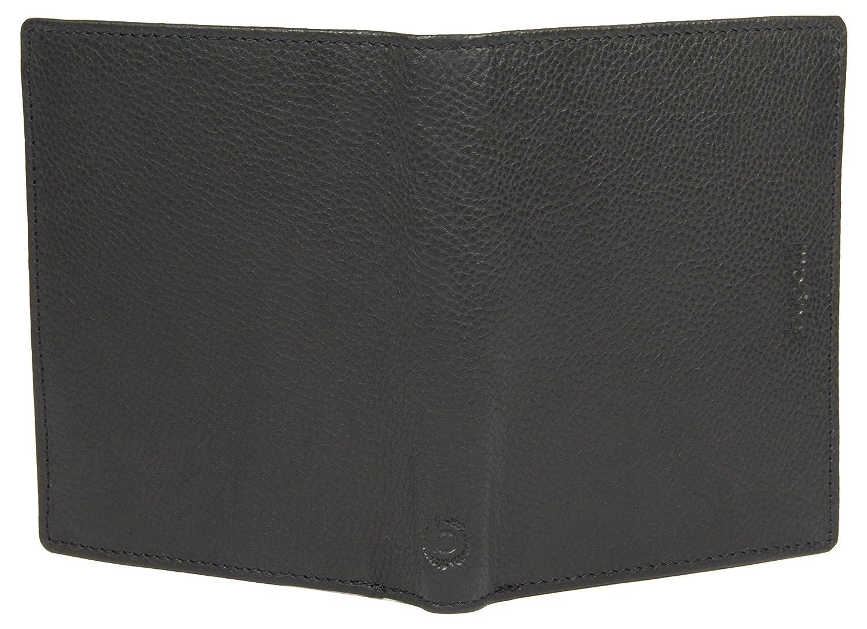 BUGATTI cartera de caballero de cuero auténtico en formato vertical, cartera de alta calidad con compartimento plegable de cuero auténtico, ...