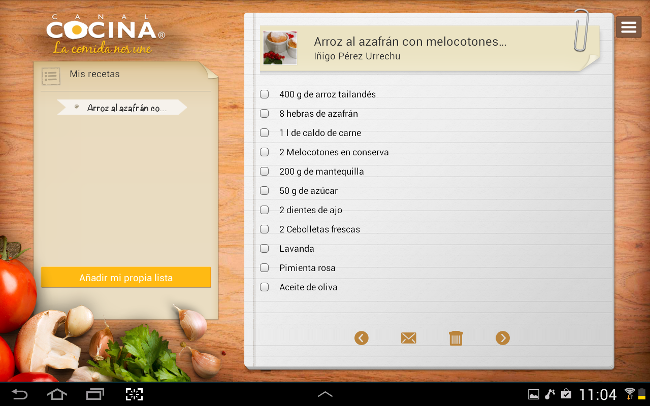 canal cocina hd appstore for android