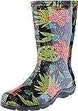 Sloggers  女式防水雨花园靴舒适鞋垫 7 PPL5002BK07