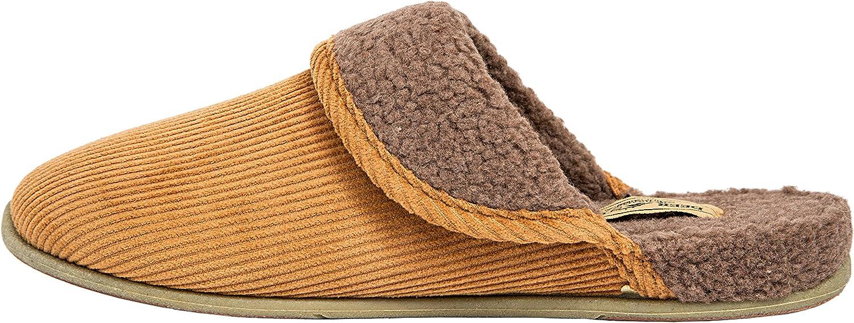 Slipperooz by Deer Stags Wail Indoor-Outdoor S.U.P.R.O Sock Cozy Corduroy Slipper.