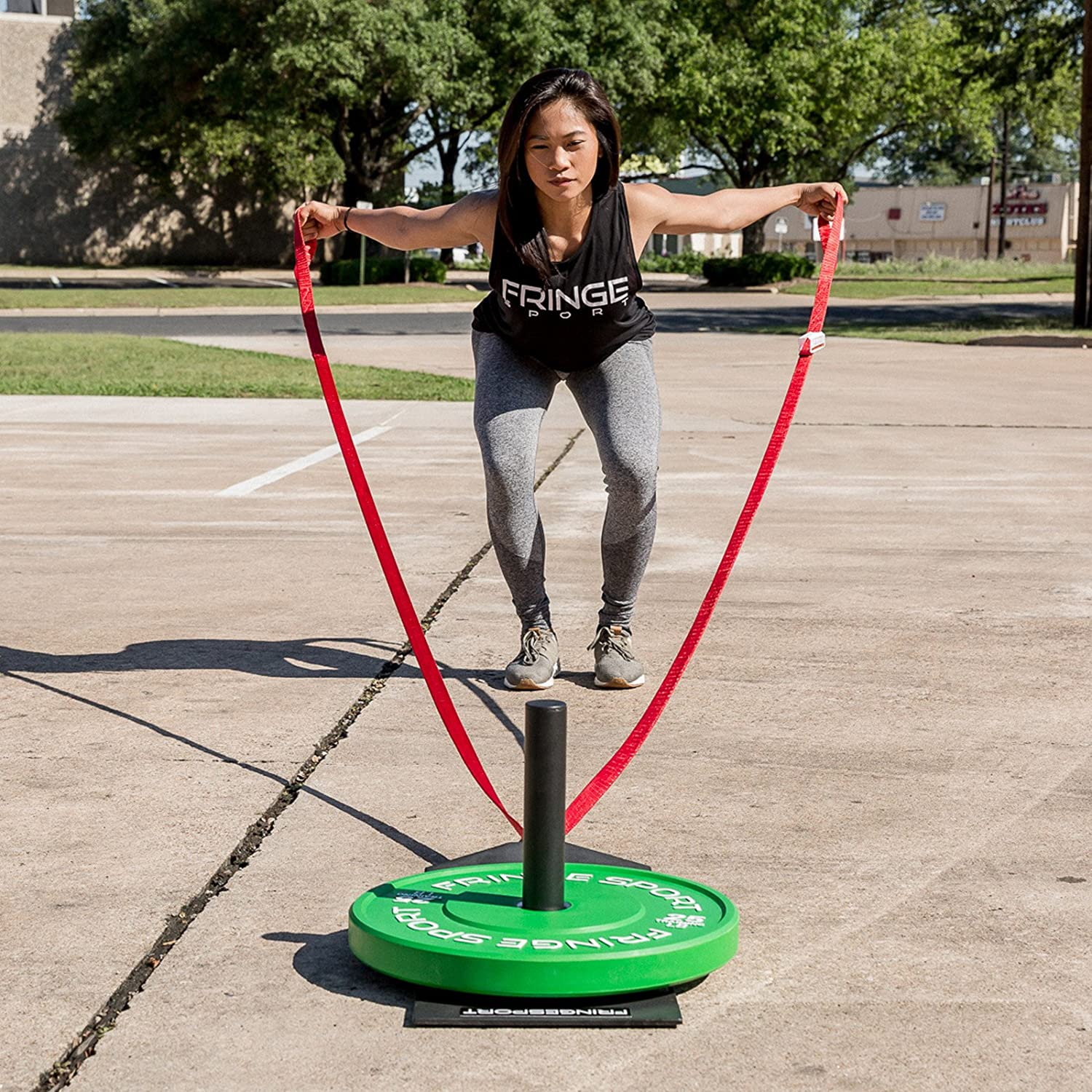 Compact Pull Sled w// 16ft Straps Resistance Conditioning /& Training Equipment