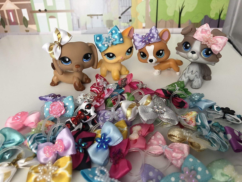 LPS Littlest Pet Shop 5 Random Bows Accessories LOT PETS NOT INCLUDED …