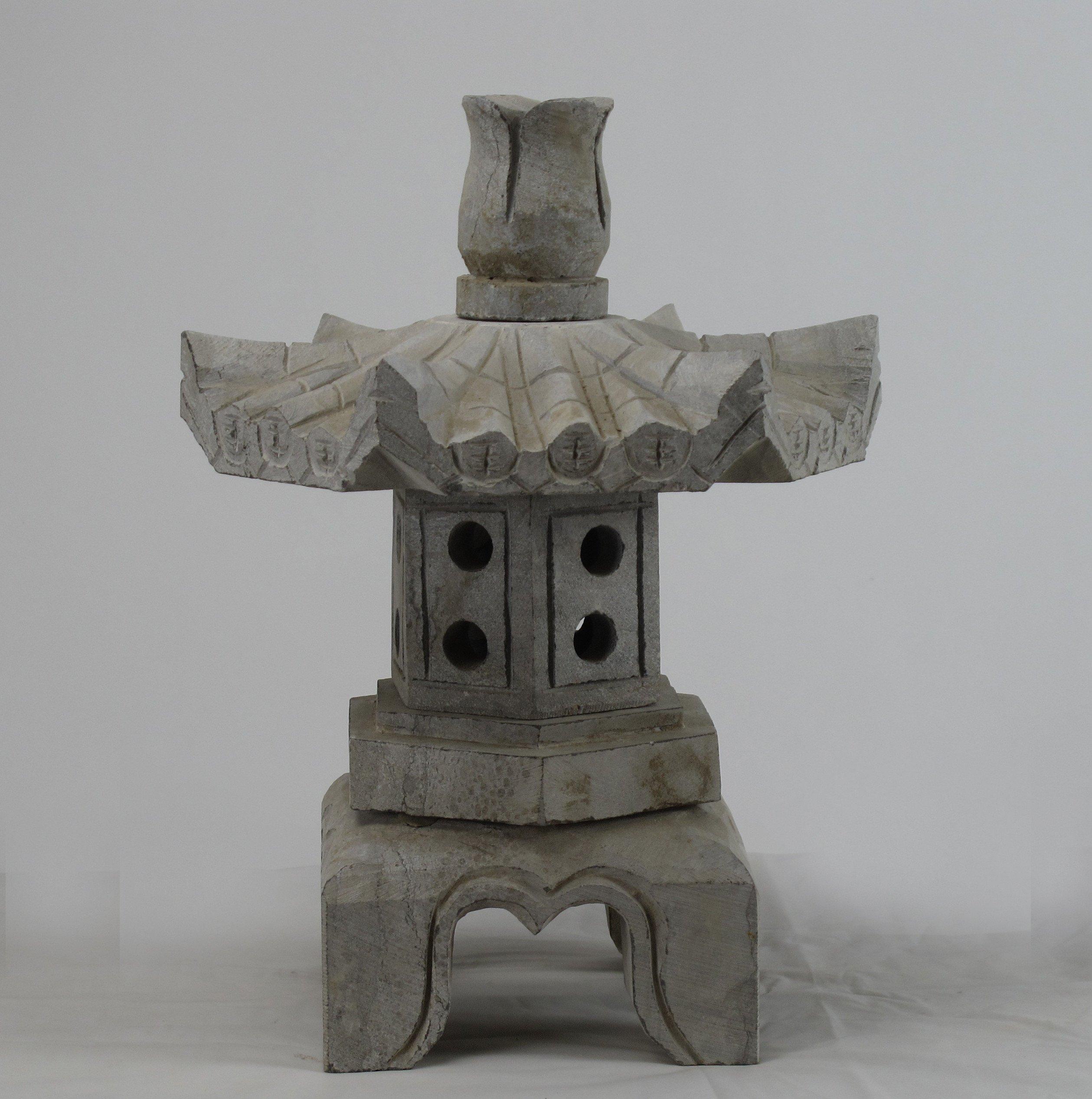 Stone Garden Lotus Top Lantern