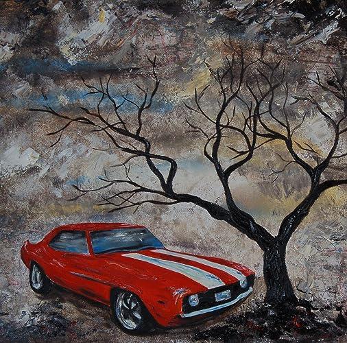 Amazon Com 1969 Chevy Camaro Artist Signed Photo Print Red