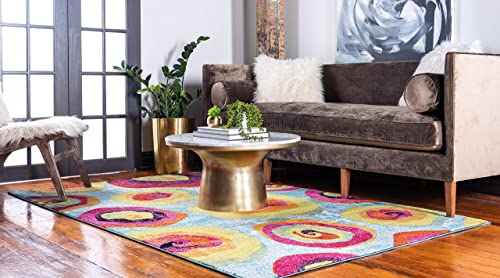 Unique Loom Lyon Collection Modern Abstract Area Rug