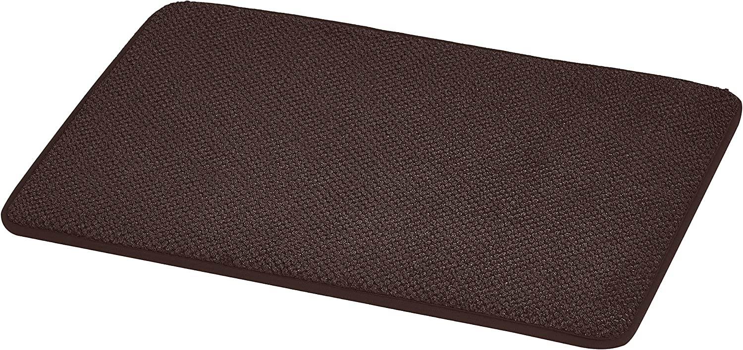 AmazonBasics Textured Memory Foam Bath Mat - Small, Brown