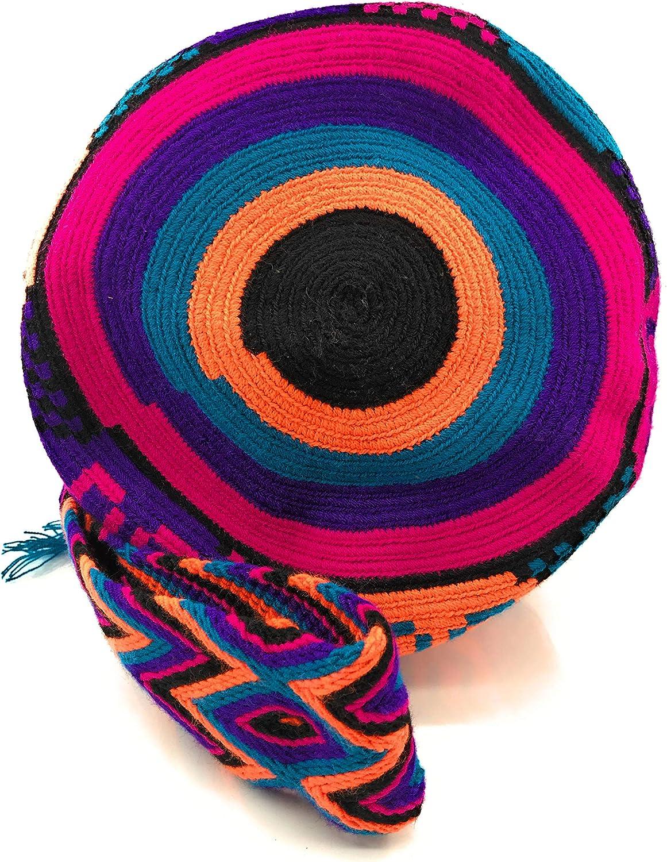/à la Fois pour Les Femmes et Les Hommes. Sac /à Dos Wayuu Sacs /à Main colombiens avec des Motifs Tribaux