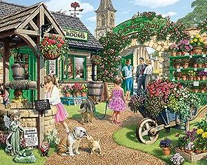 White Mountain Puzzles The Garden Shop - 1000Piece Jigsaw Puzzle