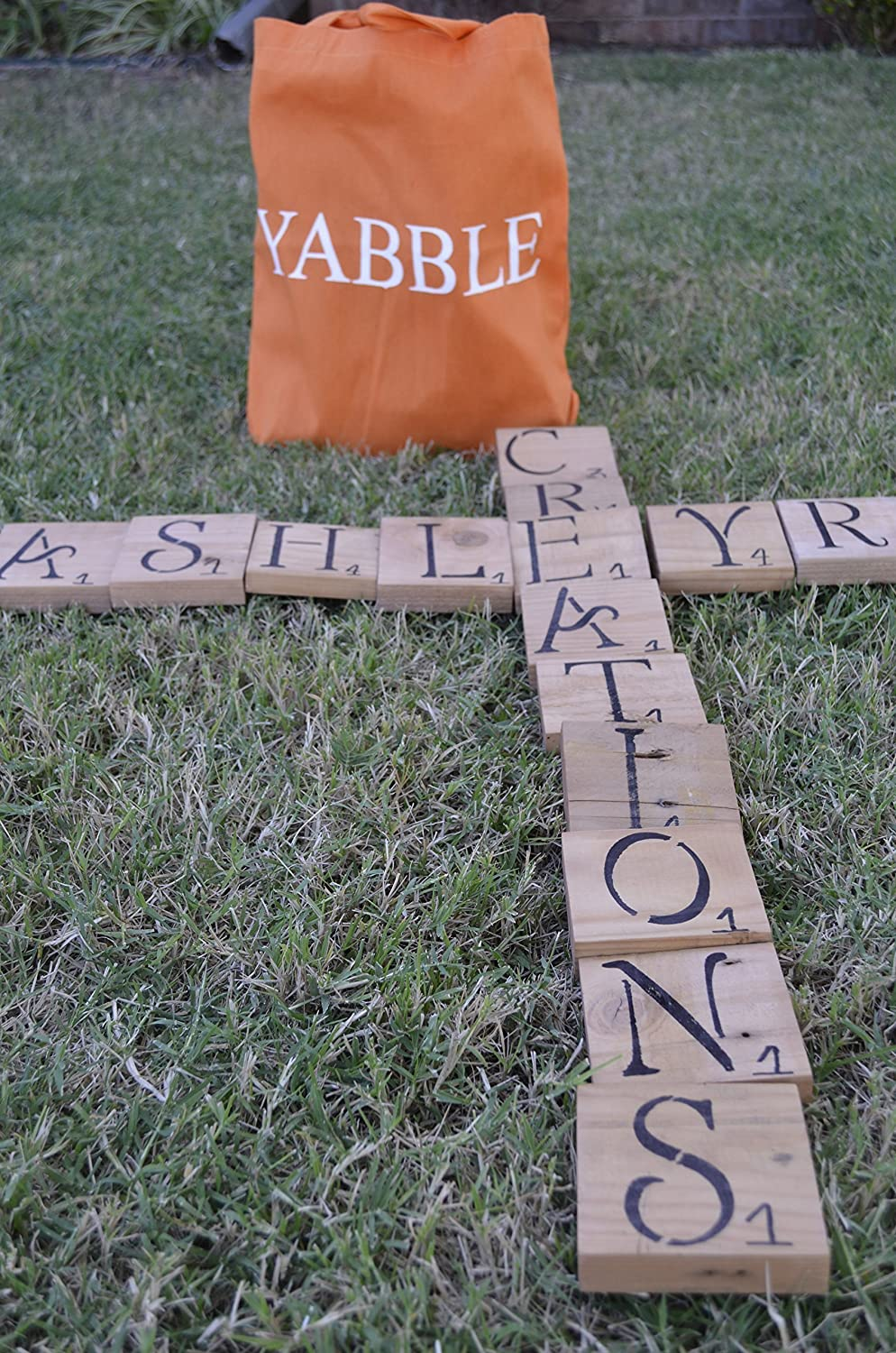 amazon com outdoor yard word tile game handmade