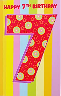 Amazoncom Seven Years Old Happy 7th Birthday Greeting Card W