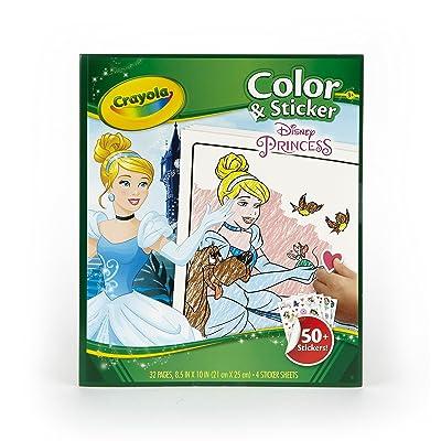 Crayola Disney Princess Color n' Sticker Book: Toys & Games