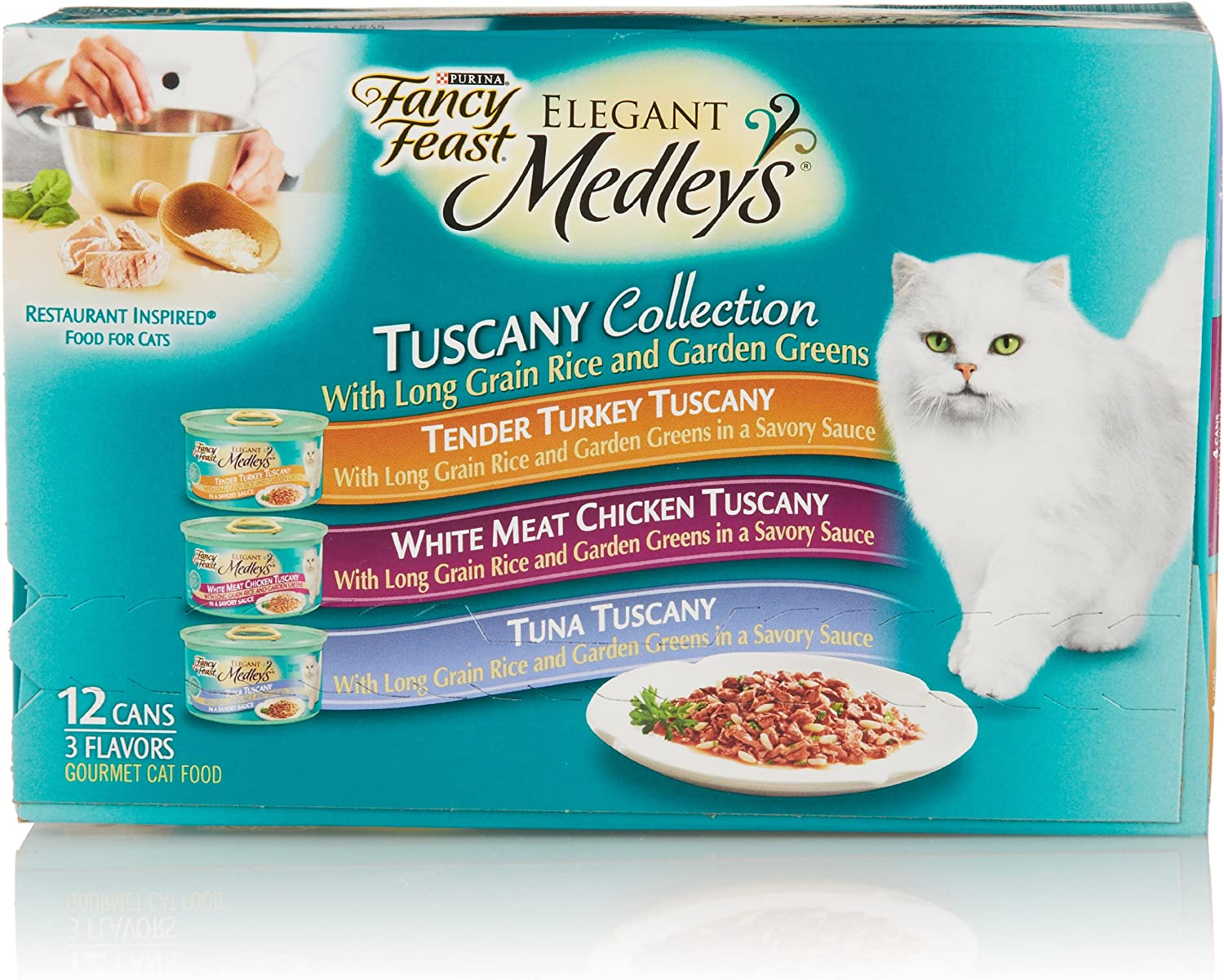 Fancy Feast Elegant Medleys, Tuscany Collection 3-Flavor Variety Pack (12-pack; 3 oz each)