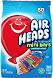 Airheads 80 Mini Bars, Chewy Fun Taffy Candy, Assorted Fruit Flavors, Back to School for Kids, Non Melting, Party 32.17oz (80 Count)