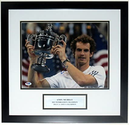 Andy Murray Signed Wimbledon 11x14 Photo - PSA DNA COA Authenticated - Professionally Framed & Plate at Amazons Sports Collectibles Store