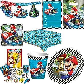 Super Mario Kindergeburtstag Party Deko Super Set Amazon De Spielzeug