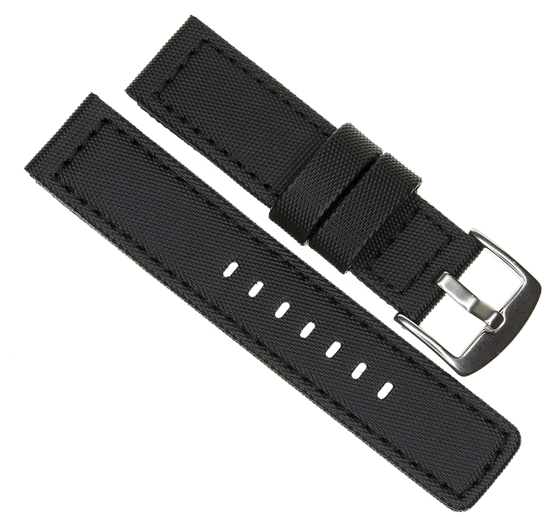 22 mm maratac EliteシリーズブラックPVCラバーストラップDiver WatchバンドブラックステッチKevlar x1  B07CKP7N5B