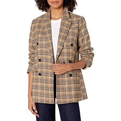 ASTR the label Women's Greta Menswear Plaid Double-Breasted Blazer at Women's Clothing store