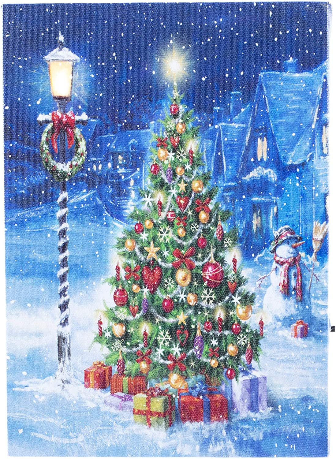 Oak Street Christmas Winter Scenes Led Art 8 X6 Tabletop Canvas Light Up Picture 6 Hour Timer 8 X6 Perfect Christmas Tree Osw197406 Posters Prints Amazon Com