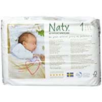 Naty by Nature Babycare Newborn Size 1 ECO Nappies - 2 x Packs of 26 (52 Nappies)