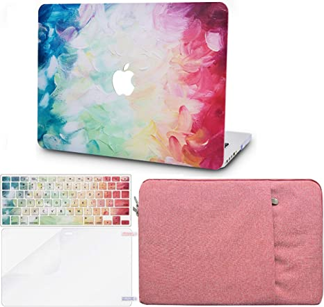 Schutzh/ülle Case Cover MacBook Air 13.3 {A1932} 2019//2018, Touch ID KECC MacBook Air 13 Retina zoll H/ülle Orange