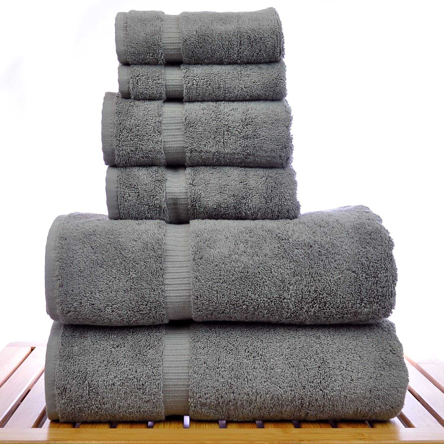Amazon com  Luxury Hotel   Spa Towel Turkish Cotton Bath Towel Bundle   Gray  6 Piece Towel Set   Home   Kitchen. Amazon com  Luxury Hotel   Spa Towel Turkish Cotton Bath Towel