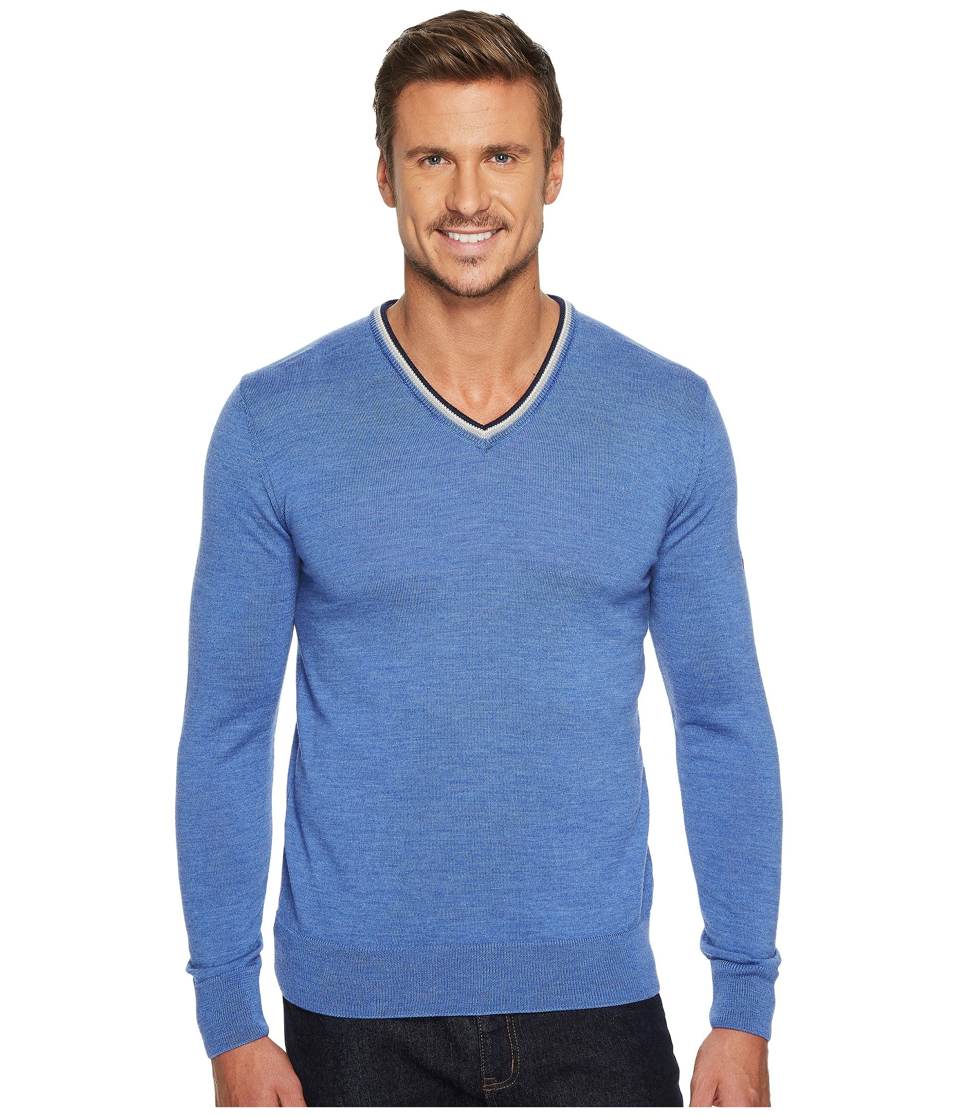 Dale of Norway Kristian masculine sweater, Medium Blue/Off-white/Navy, XX Large by Dale of Norway (Image #1)