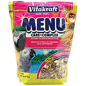 Vitakraft Menu Vitamin Fortified Parrot Food, 5 Lb – Best value-for-money parrot food