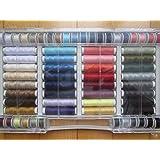 Ze - Set da 64 rocchetti di filo per macchina da cucire, 100% poliestere