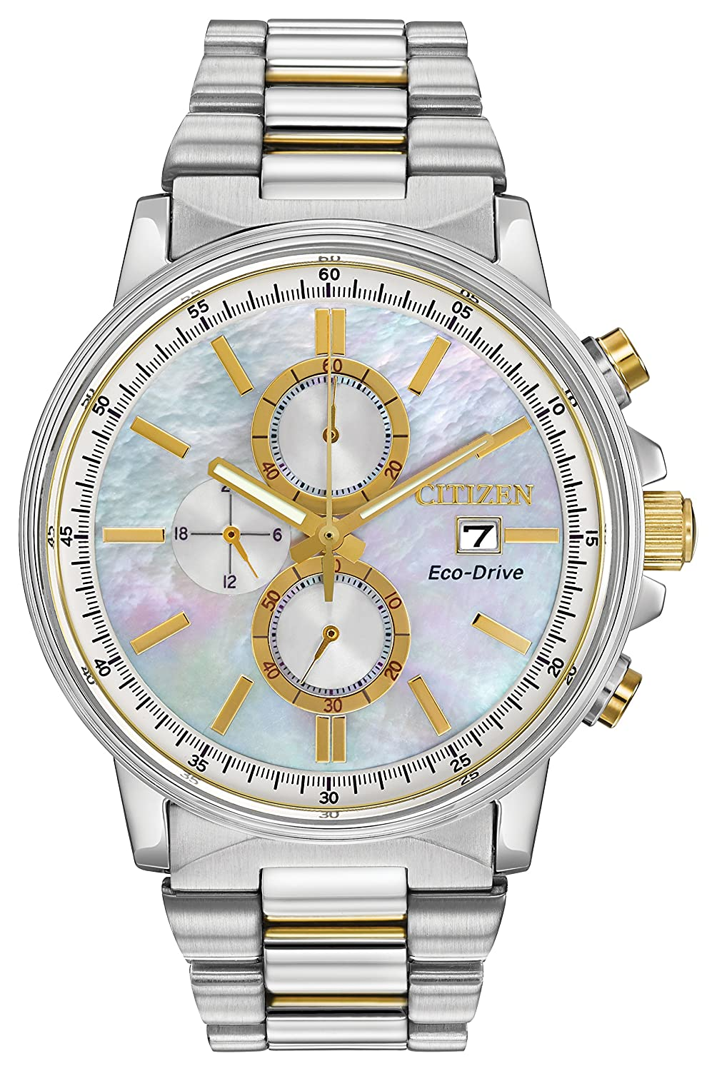Citizen Eco-Drive Nighthawk Chronograph Stainless Steel – Two-Tone Women s watch FB3004-58D
