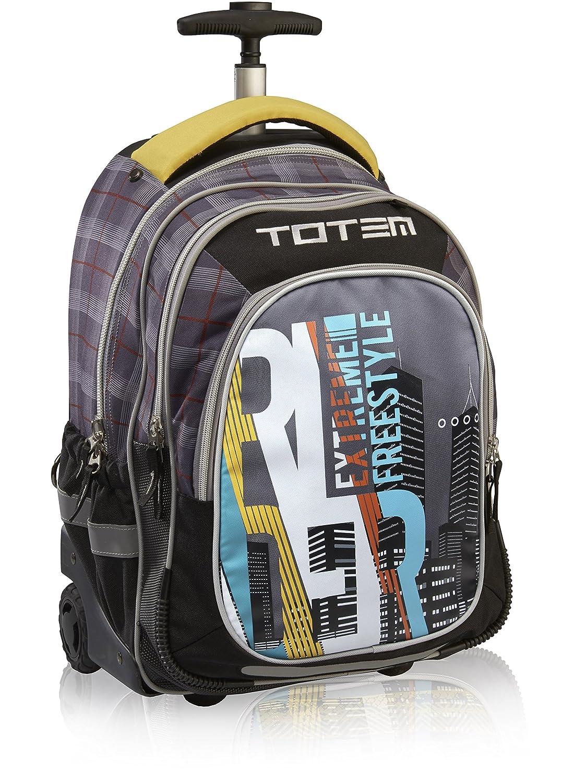 Trolley-Tasche, groß, Schwarz, Schulterriemen, grau (schwarz) - HF15002
