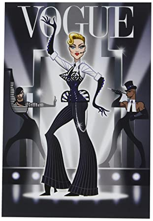 4550 Mdna Madonna Vogue Funny Birthday Greeting Card With 5 X 7