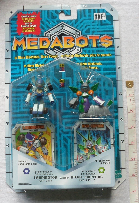 medabots twin pack landmotor vs mega emperor amazon co uk