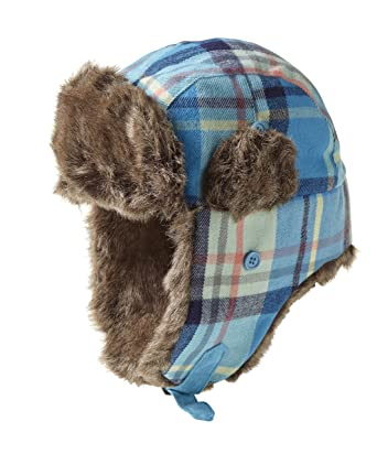 Plaid Lumberjack Trapper Hat (Blue Palid)  Amazon.co.uk  Clothing 24b94f17084