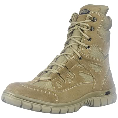 "VOODOO TACTICAL 04-8479 9"" Side Zip High Speed Tactical Boot, Desert Tan: Sports & Outdoors"