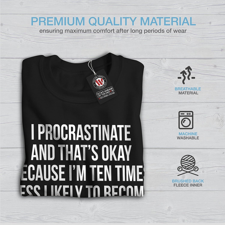 Funny Slogan Casual Jumper wellcoda Postpone Quote Mens Sweatshirt