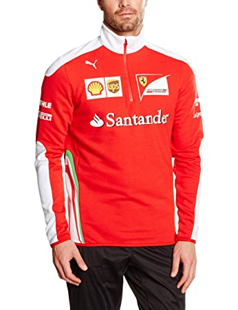 637ec07e12f4f6 Puma SF Scuderia Ferrari Formula 1 Team Half Zip Fleece Sweatshirt, Men,  76194801-