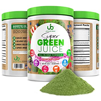 Amazon.com: Green Juice Superfood en polvo (suministro de 30 ...