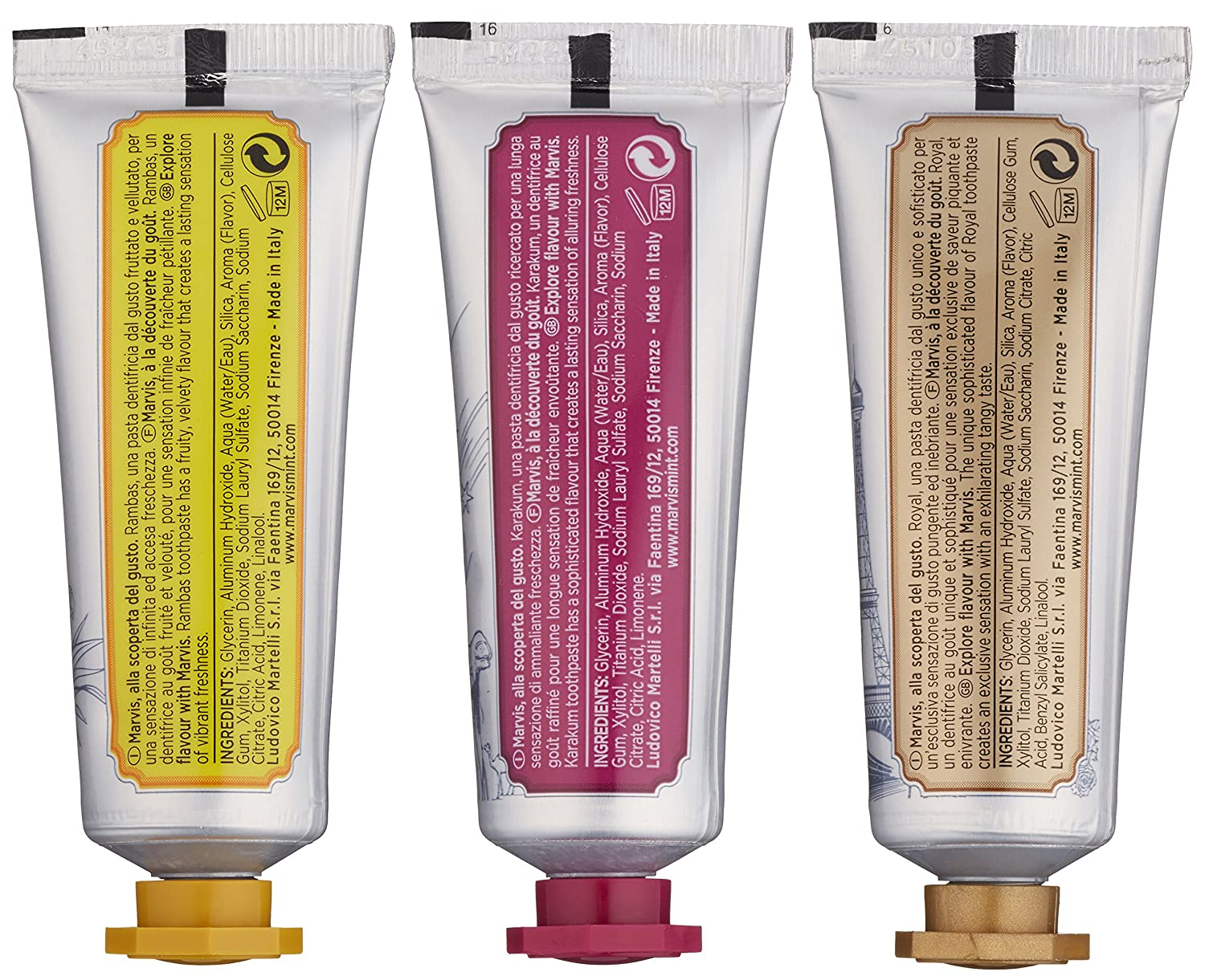 Amazon.com: Marvis Wonders Of The World Toothpaste Set, Limited ...