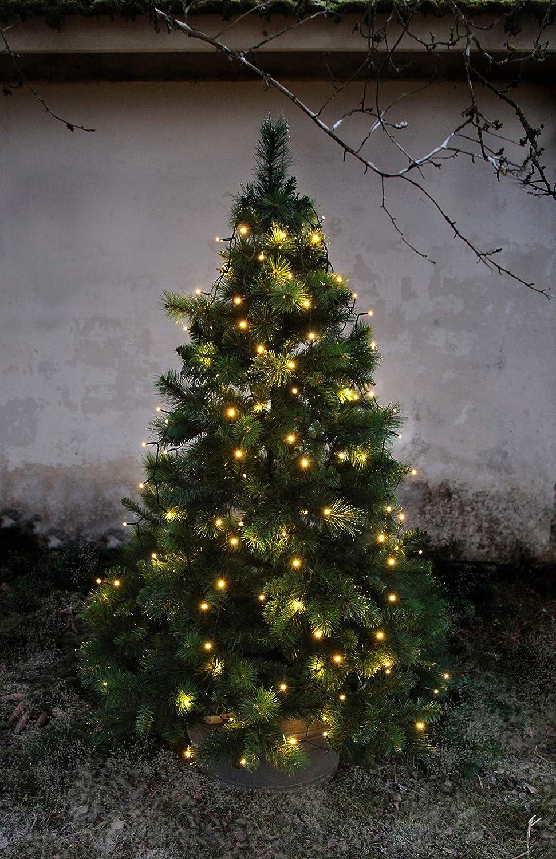 LED-Baumvorhang, 160-teilig Farbe: warm white, Kabel: schwarz 8 Stränge für ca. 180 - 200 cm Bäume, outdoor, mit Trafo Best Season 497-96