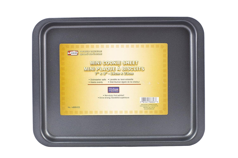 "Symak K866-03 7"" x 9"" Mini Cookie Sheet Non-Stick Small Toaster Oven Pan Bakeware Replacement, White"