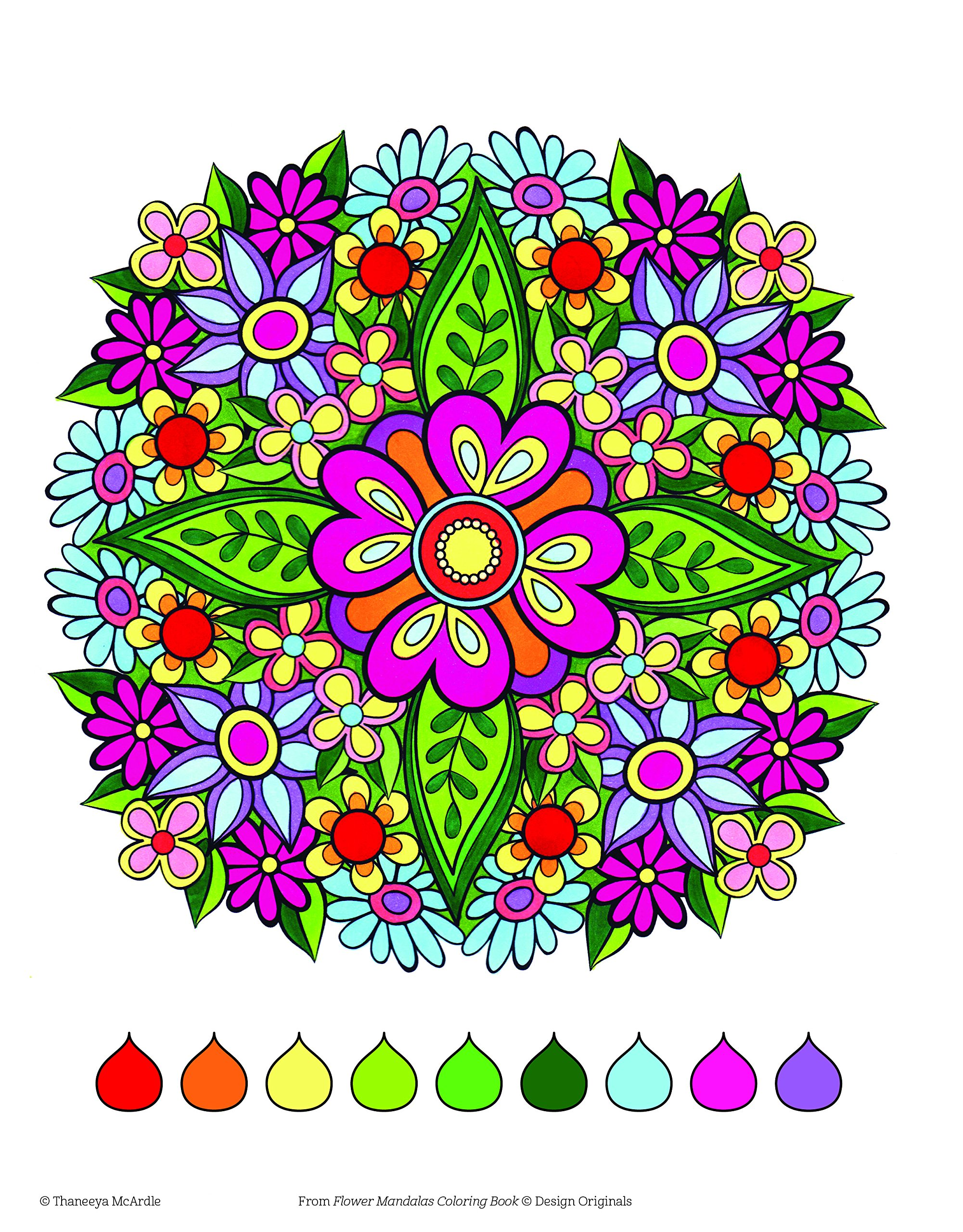 Flower Mandalas Coloring Book (Coloring Activity Book) (Coloring Is ...