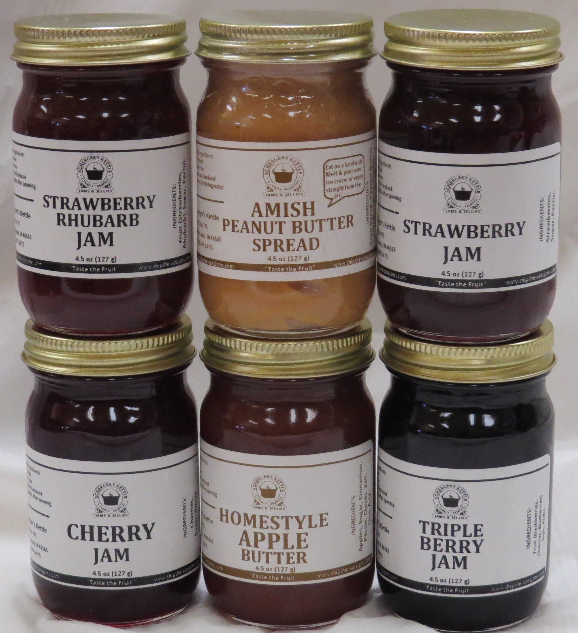 Best Sellers Gift Box (6-4.5 oz jars in a gift box)