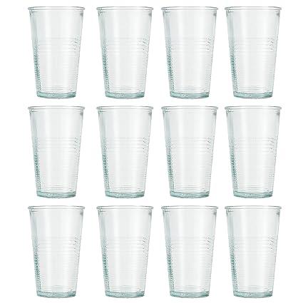 Jamie Oliver – Vaso de tubo vaso de cristal 12 x 250 ml/9oz auténtico