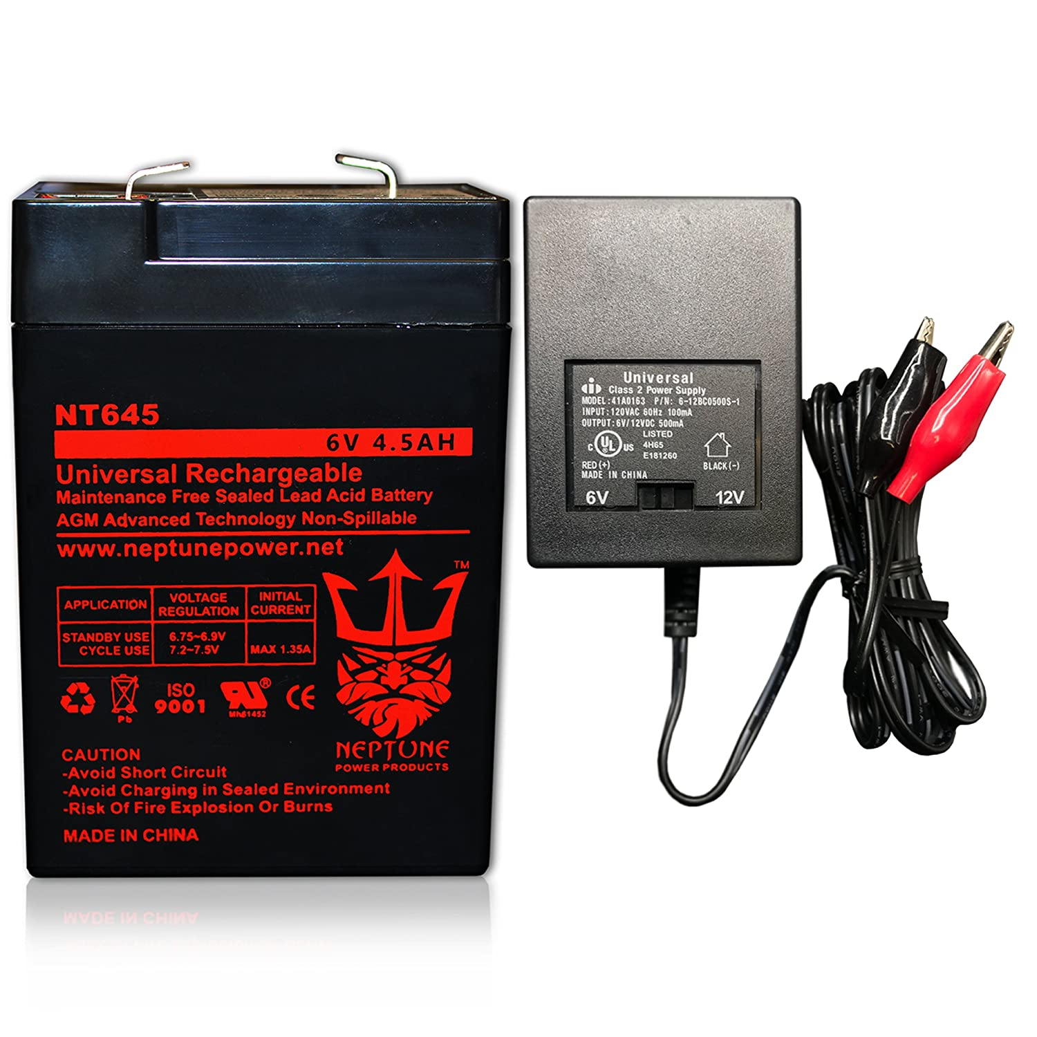 Neptune 6v 45ah Nt 645 Rechargeable Sla Battery Combo Sealed Lead Acid Charger Circuit With Home Audio Theater